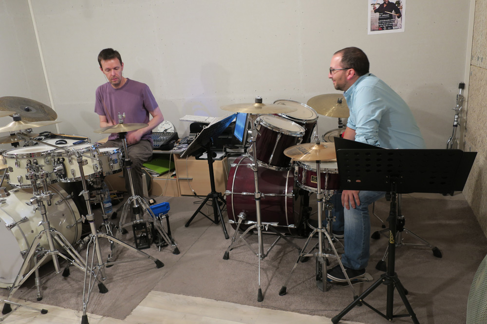 Drum lesson in music school Geneve modern pedagogy | Drums&Co ch