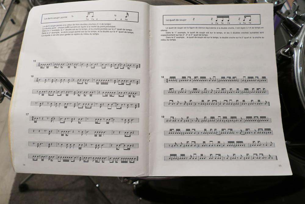 partion de solfe rythmique ecole de musique à Genève