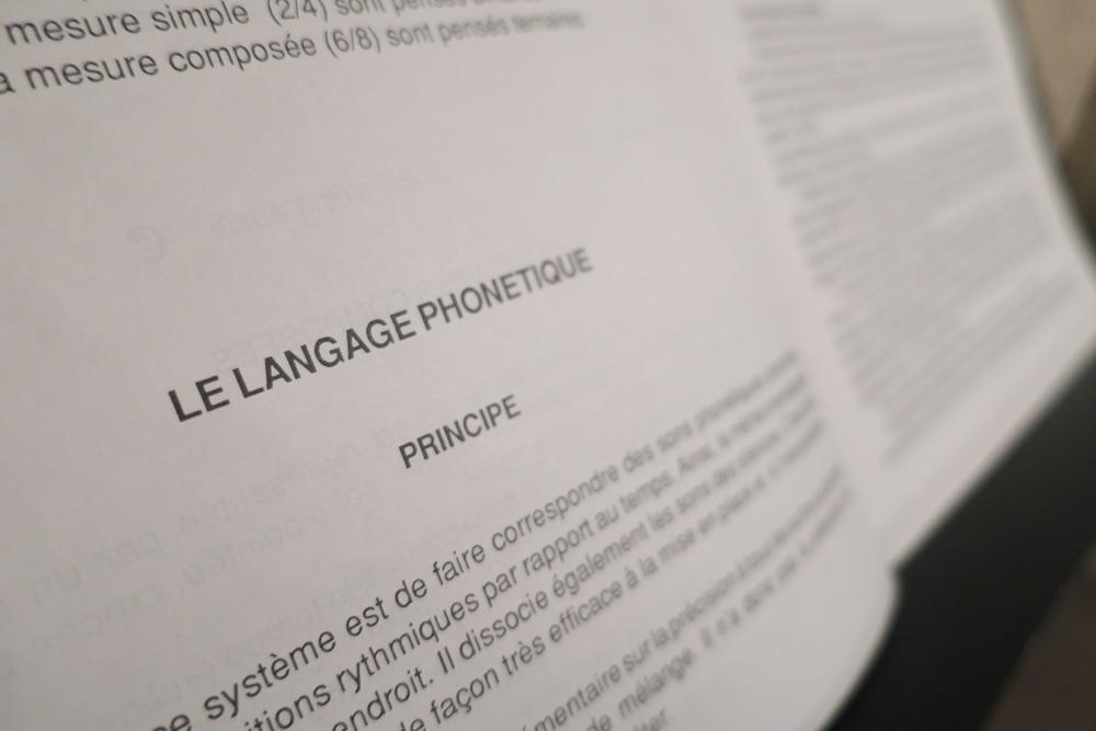 le langage phonétique - les principes