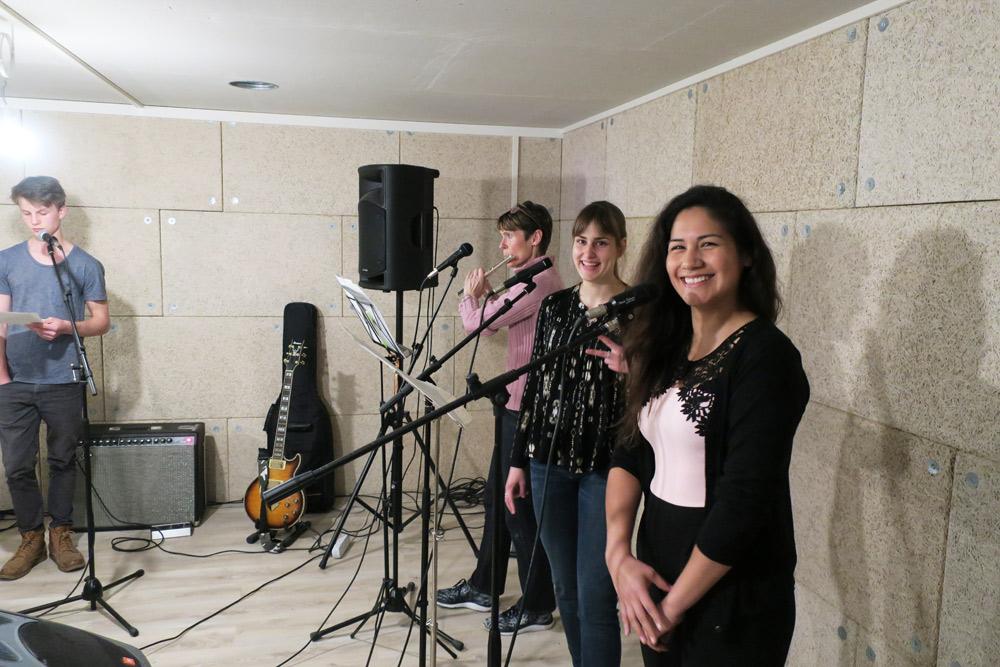 élèves d'un cours de chant